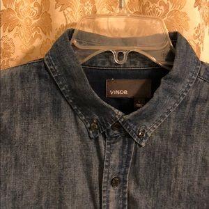 Blue Denim Vince Button-Down Shirt